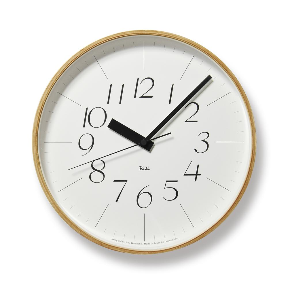 RIKI PLYWOOD CLOCK THIN | Lemnos Wall Clocks