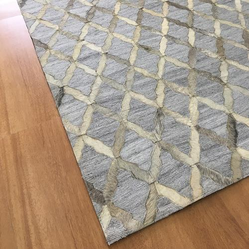 Leather Gray Ivory Rug II