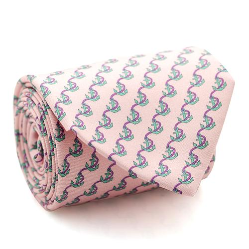 Necktie | Pink / Rose with Anchore Rope Pattern