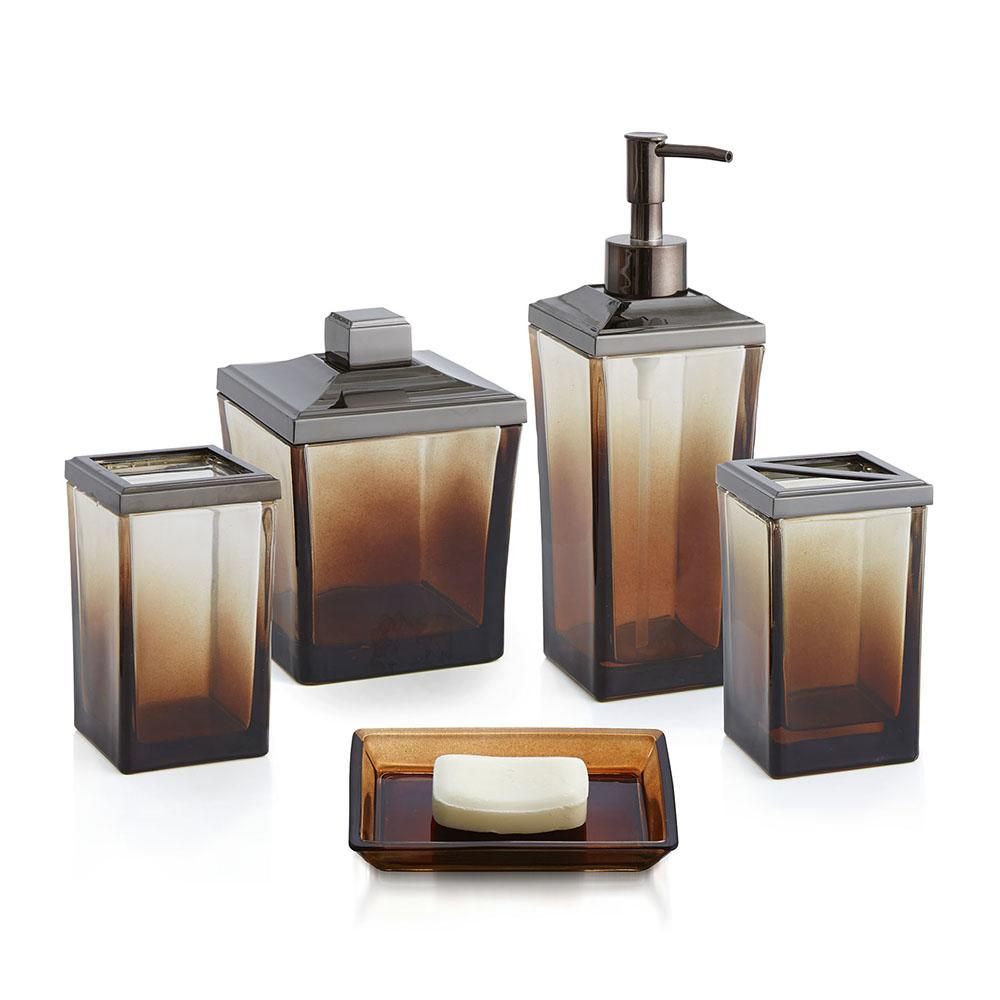 Ombre bath set paradigm trends for Gold and silver bathroom accessories