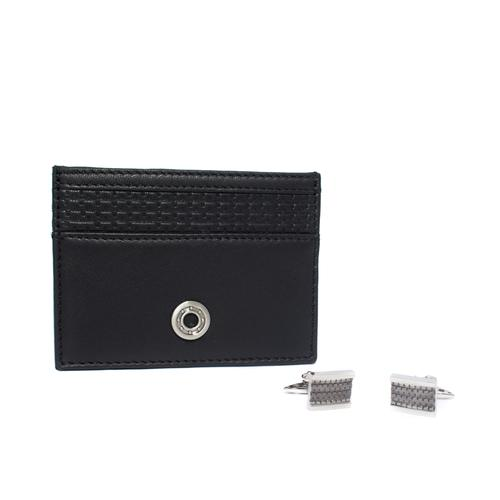 Card Holder / Cufflinks Gift Set | Tyre Tread