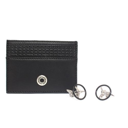 Card Holder / Cufflinks Set | Nardi Torino Black