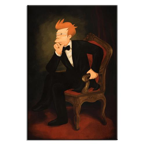 Philip J Fry As Abraham Lincoln Poster