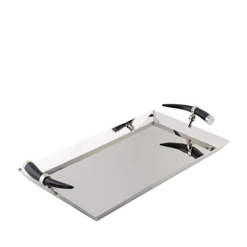 Stainless Steel | Rectangular Tray with Horn Inspired Handles