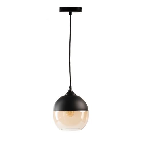 Vintage and Glass Round Pendant Lamp