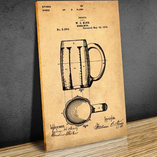 Beer Mug- Sepia/Antique   Canvas
