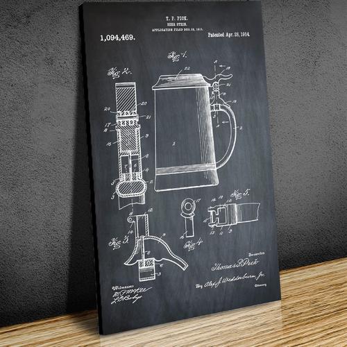 Beer Stein-1914 Chalk   Canvas
