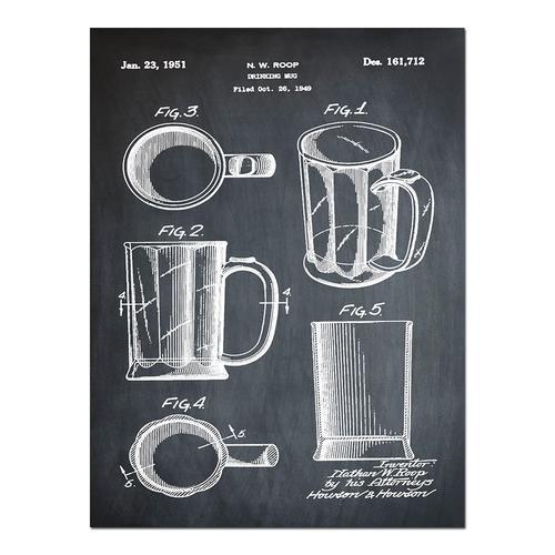 Beer Mug-1951 Chalk   Paper