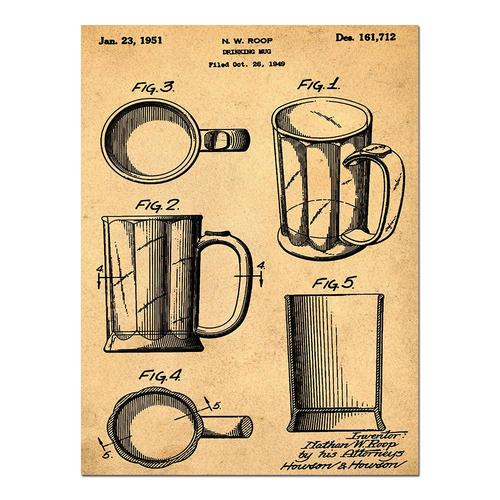 Beer Mug-1951 Sepia/Antique   Paper