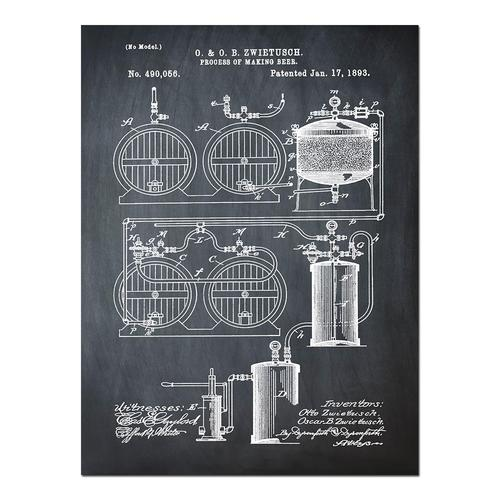Brewery Patent - 1891 Chalk   Paper