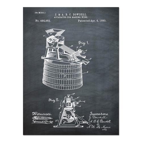 Wine Making-1893 Chalk   Paper