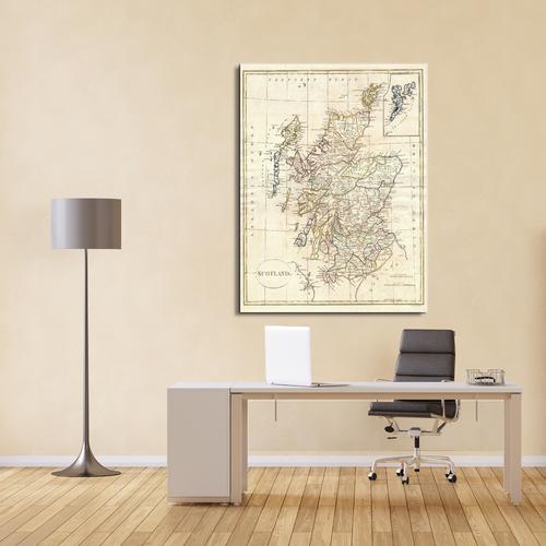 Map of Scotland | Canvas