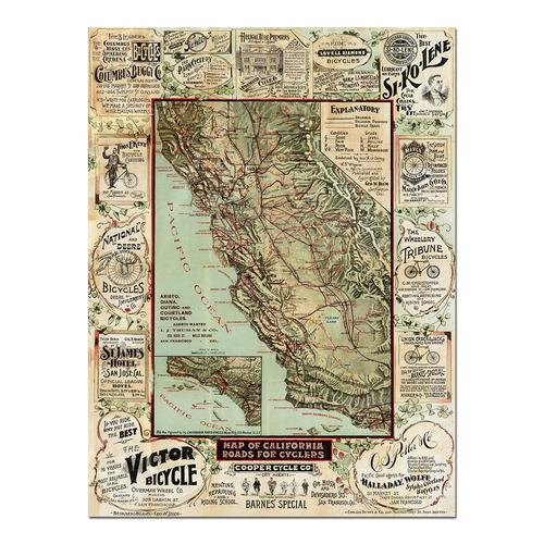 California map for Cyclers | Paper