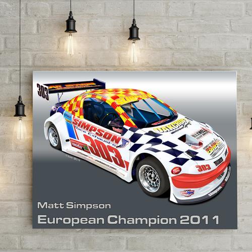Matt Simpson National Hotrod UK I   Canvas