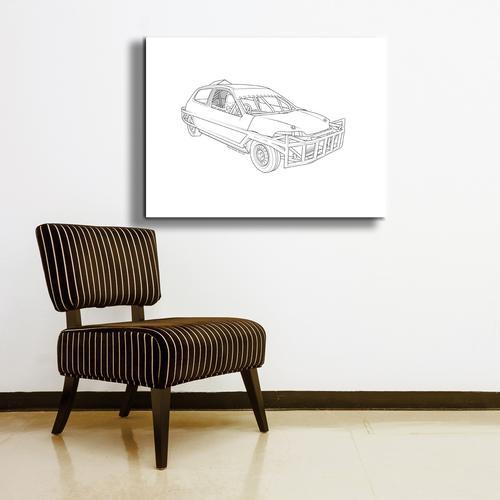 Stock car  II | Canvas
