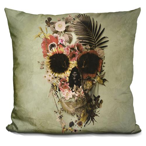 'Garden skull light' Throw Pillow