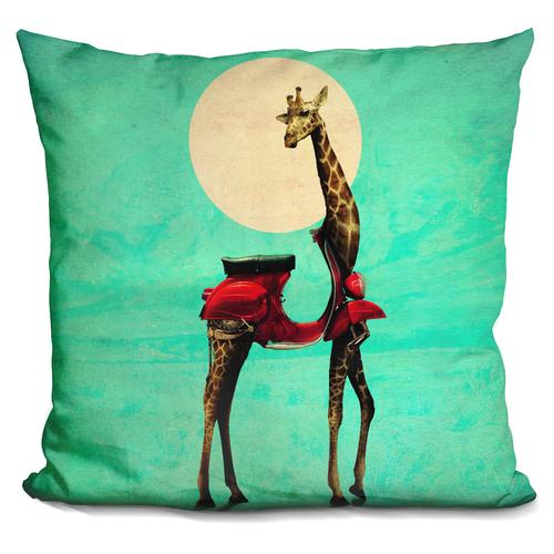 'Giraffe 6000 sq' Throw Pillow