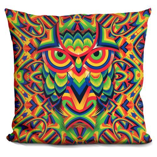 'Owl 3' Throw Pillow