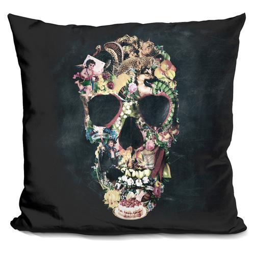 'Vintage skull' Throw Pillow