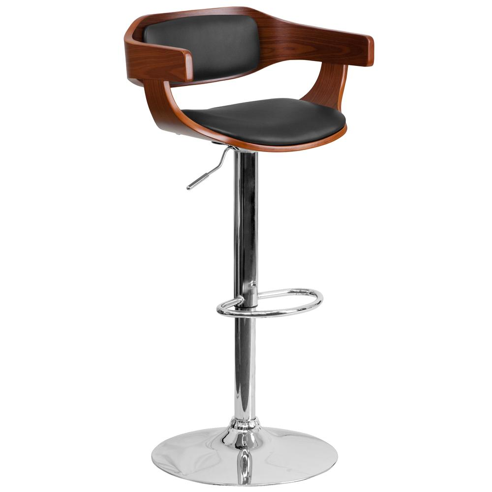 Height Barstool With Black Vinyl Upholstery Flash Furnitur