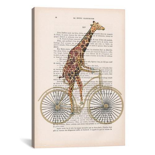 Vintage Paper Series: Giraffe On Bicycle