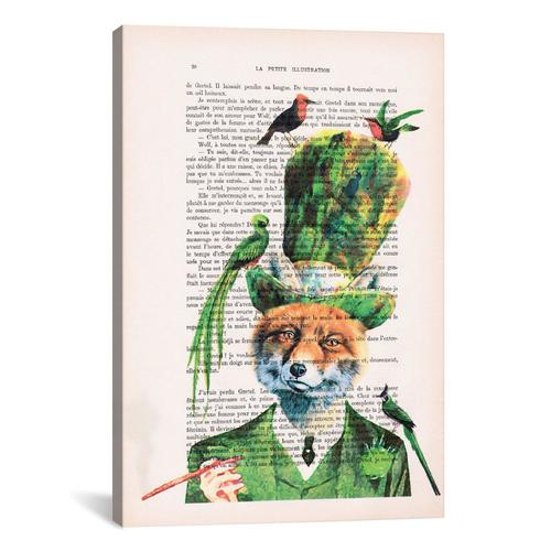 Vintage Paper Series: Fox With Birds