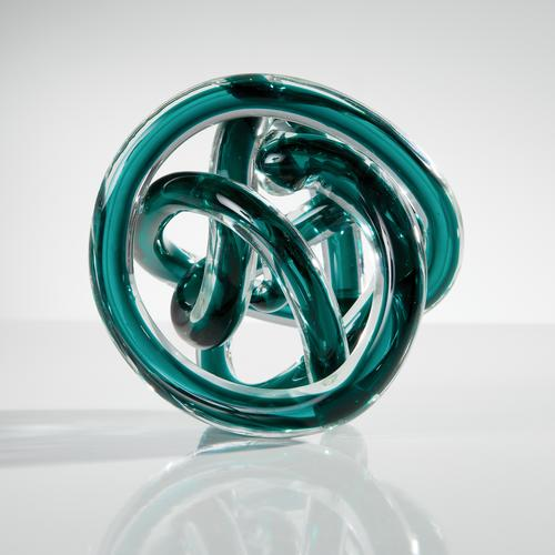 Orbit Glass Decor Ball | Teal
