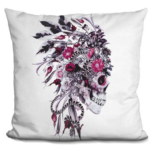 Riza Peker 'Momento Mori Chief' Throw Pillow