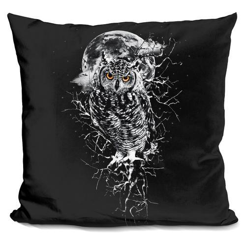 Riza Peker 'OWL BW' Throw Pillow