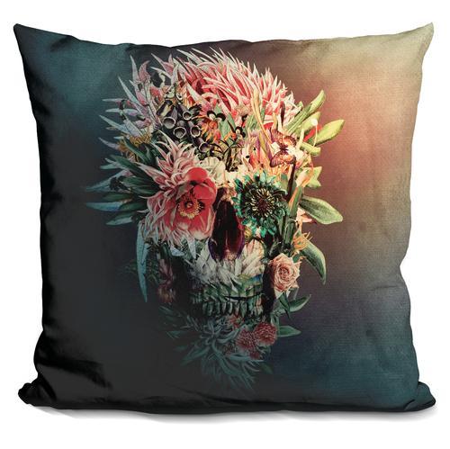 Riza Peker 'Skull Revo' Throw Pillow