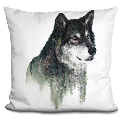 Riza Peker 'Wolf' Throw Pillow