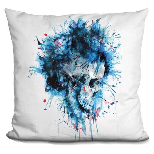 Riza Peker 'Skull Splash II' Throw Pillow