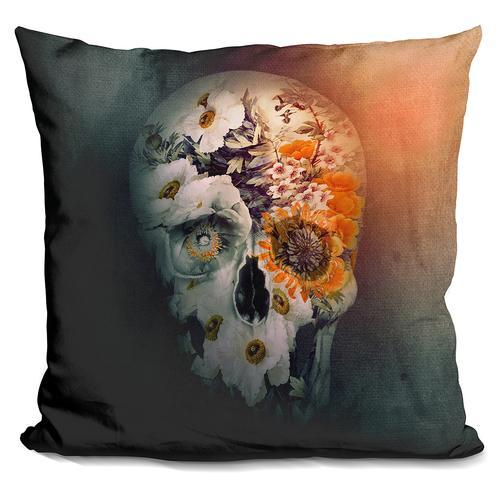 Riza Peker 'SKULL STILL LIFE II' Throw Pillow