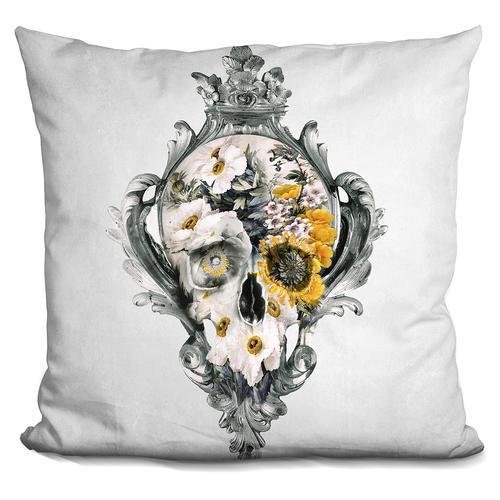 Riza Peker 'Skull still life' Throw Pillow