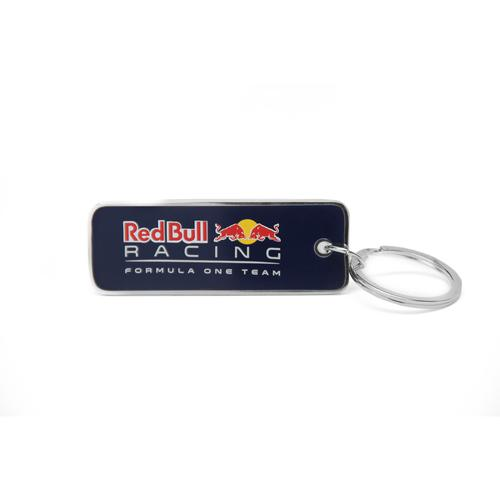 RED BULL RACING METAL LOGO SILVER EDGE