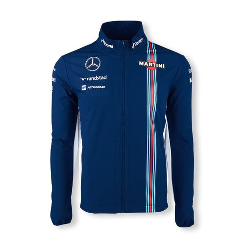 WILLIAMS MARTINI RACING SOFTSHELL JACKET MENS 2016 REPLICA