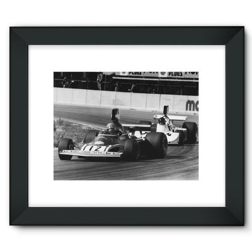 Niki Lauda AND James Hunt - 1974   Black